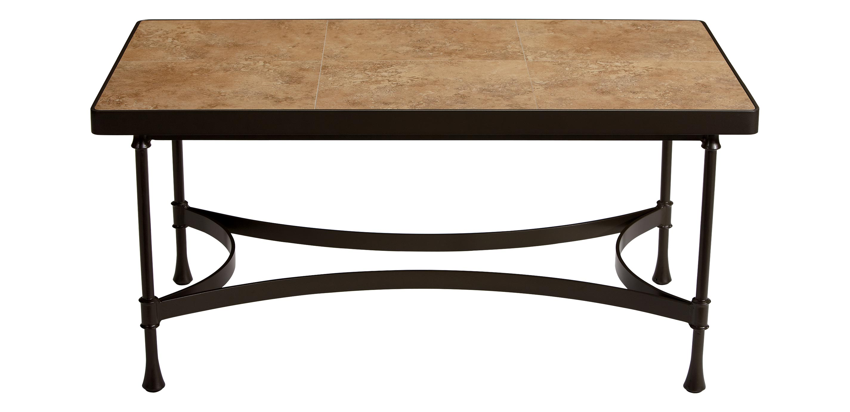 Biscayne Coffee Table With Light Porcelain Top Biscayne Collection