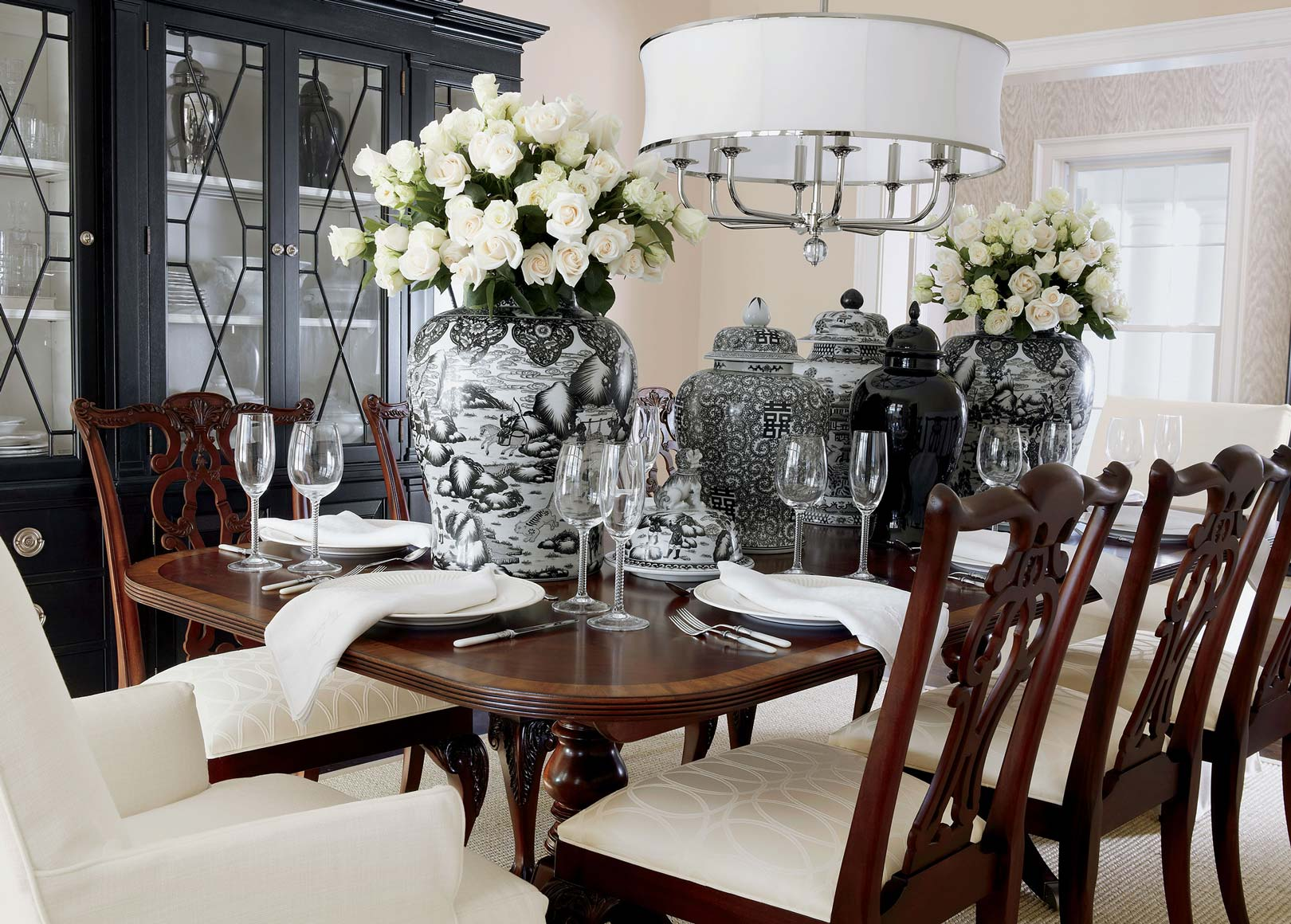 Lots of Luxe Dining room Main Image