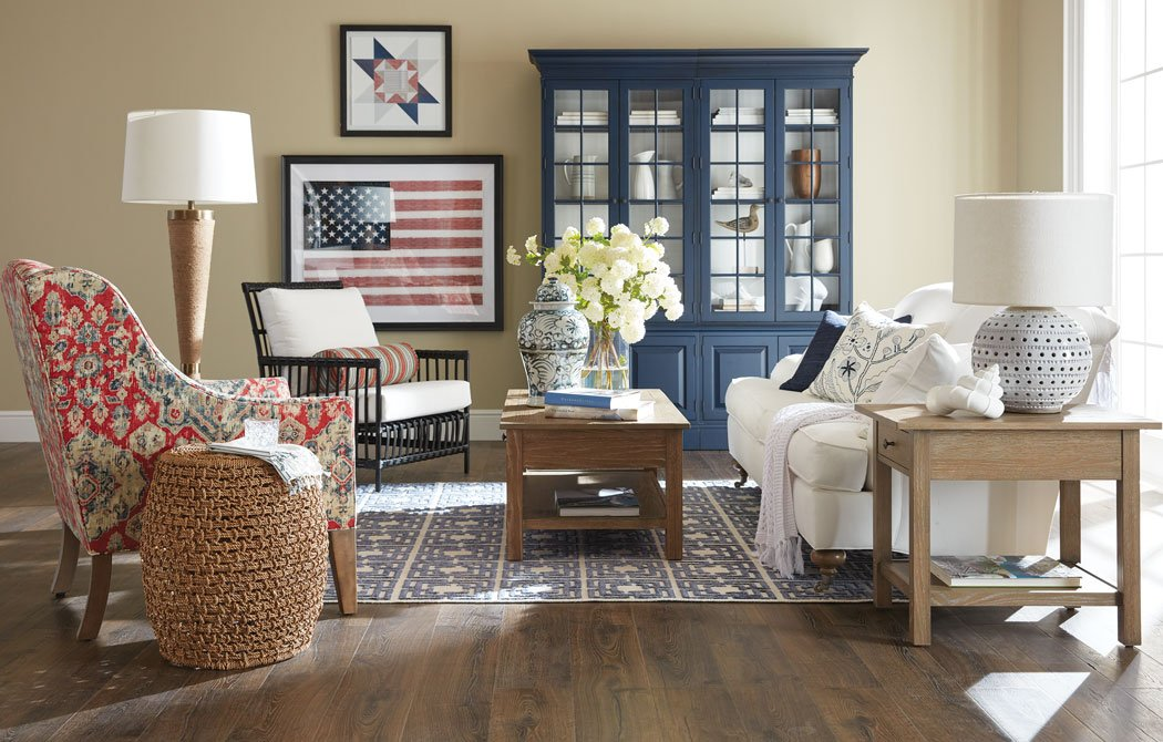 Americana-by-the-Sea Living Room Main Image