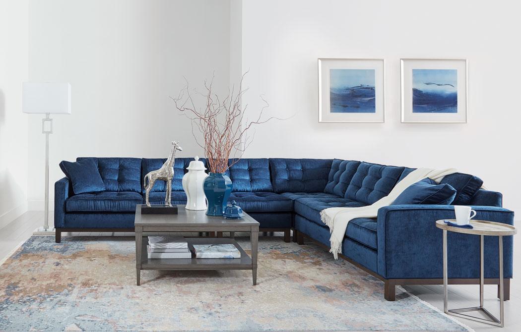 Blue Velvet Living Room Living Room Sectional Ideas Ethan Allen