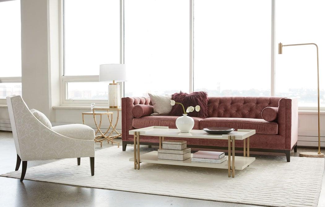 Modern glam living room ideas ethan allen design - Modern family room design ideas ...