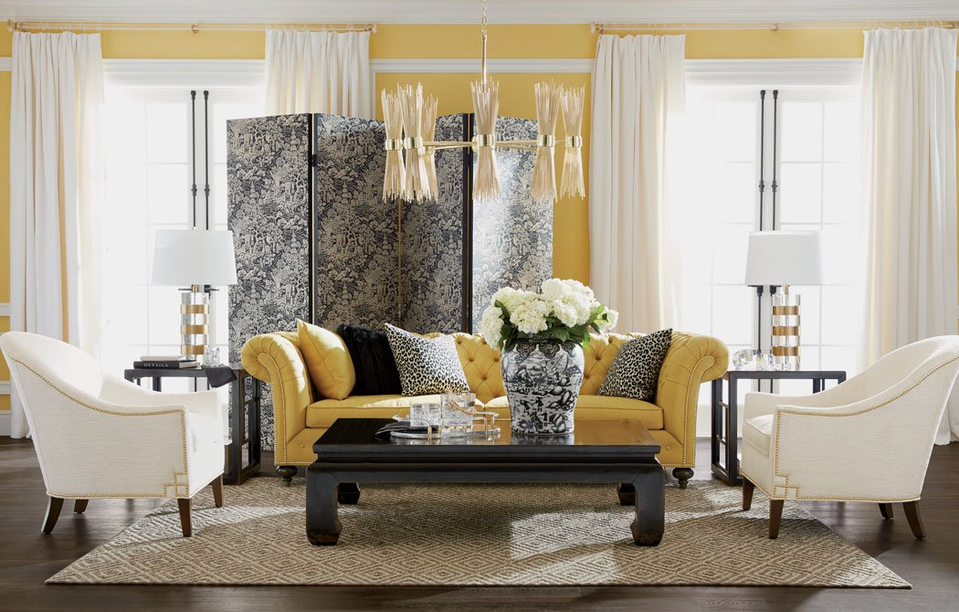 Yellow & Black Beauty Living Room Main Image
