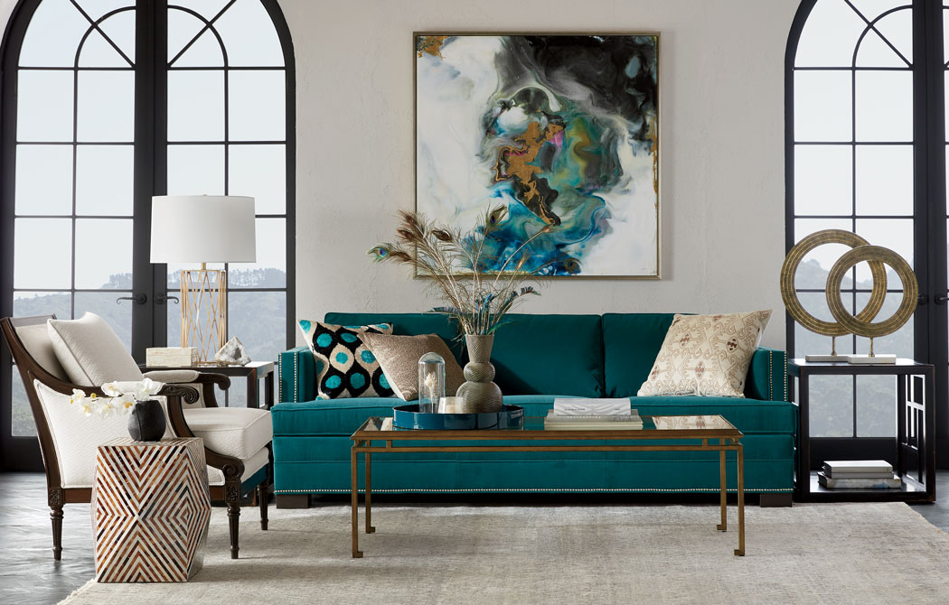 This Living Room Is The Real Teal Main Image