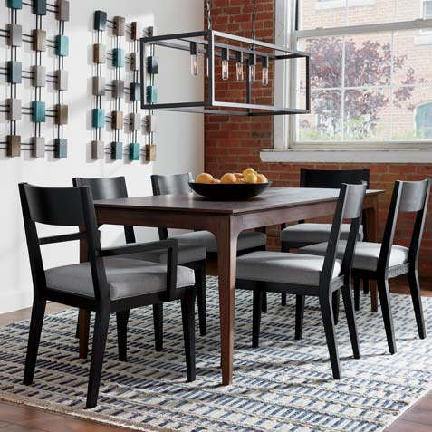 Blue-Gray Dining Room Tile