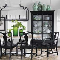 Back To Black And White Dining Room