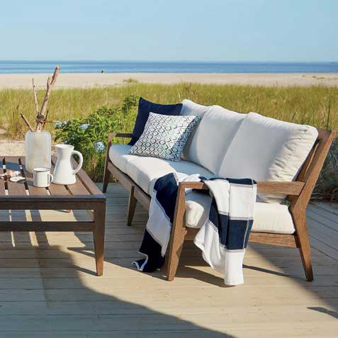 Outdoor Living Room by the Beach Tile