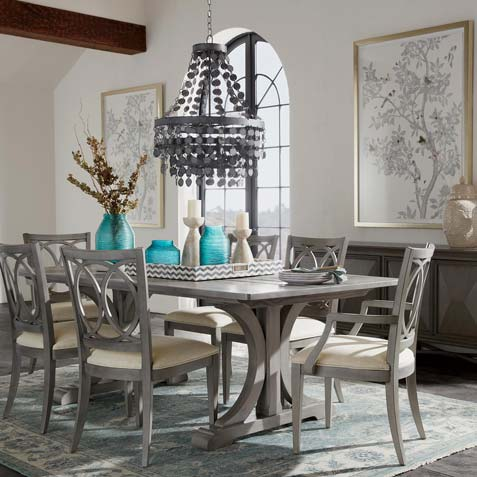 Beautiful Shades Of Gray Dining Room