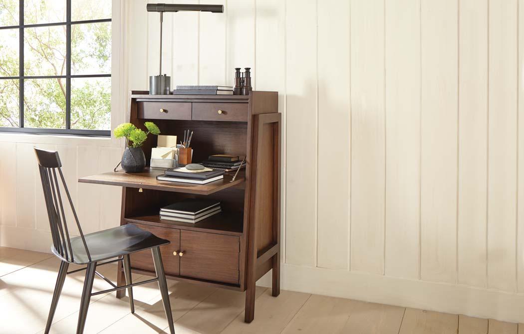 Hidden Home Office Furniture  Tiny Home Office Ideas  Ethan Allen