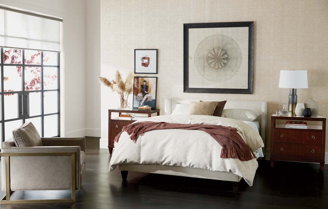 Neutral Bedroom with Pops of Plum Main Image
