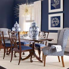 blue dining room. Company s Coming Dining Room Shop Rooms  Ethan Allen