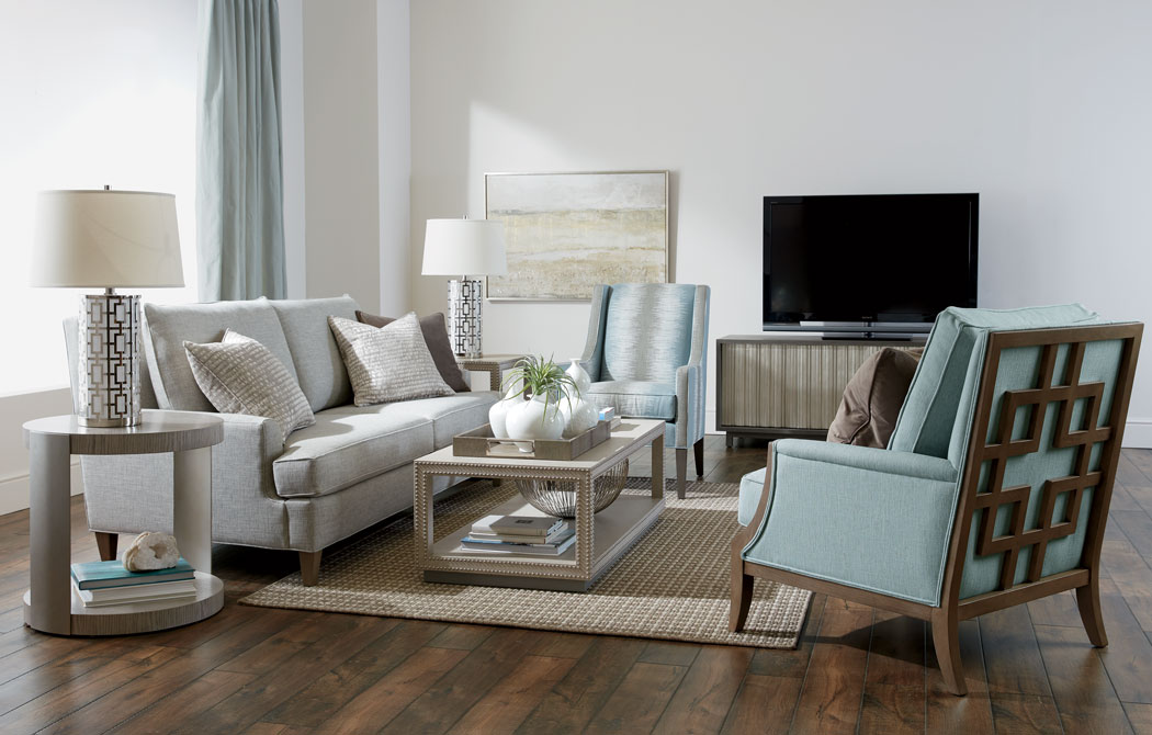 Luxe & Loungy Living Room  Ethan Allen