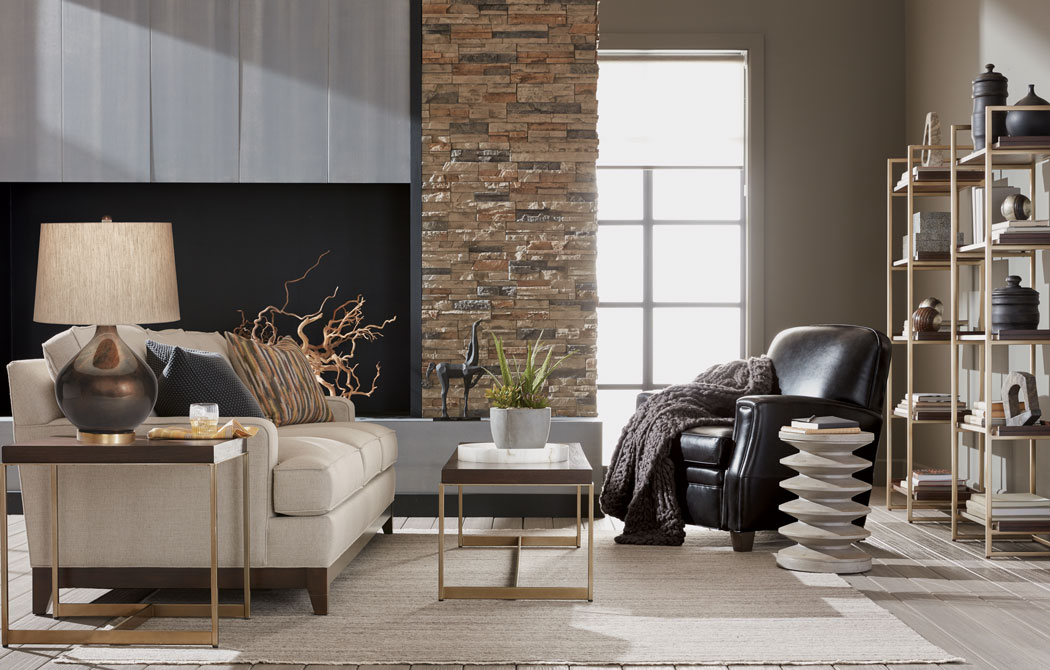 A Classic Yet Contemporary-Curious Living Room Main Image