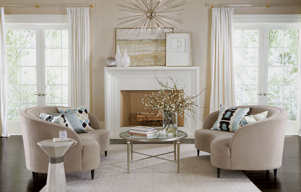 Hollywood Glam Living Room | Ethan Allen