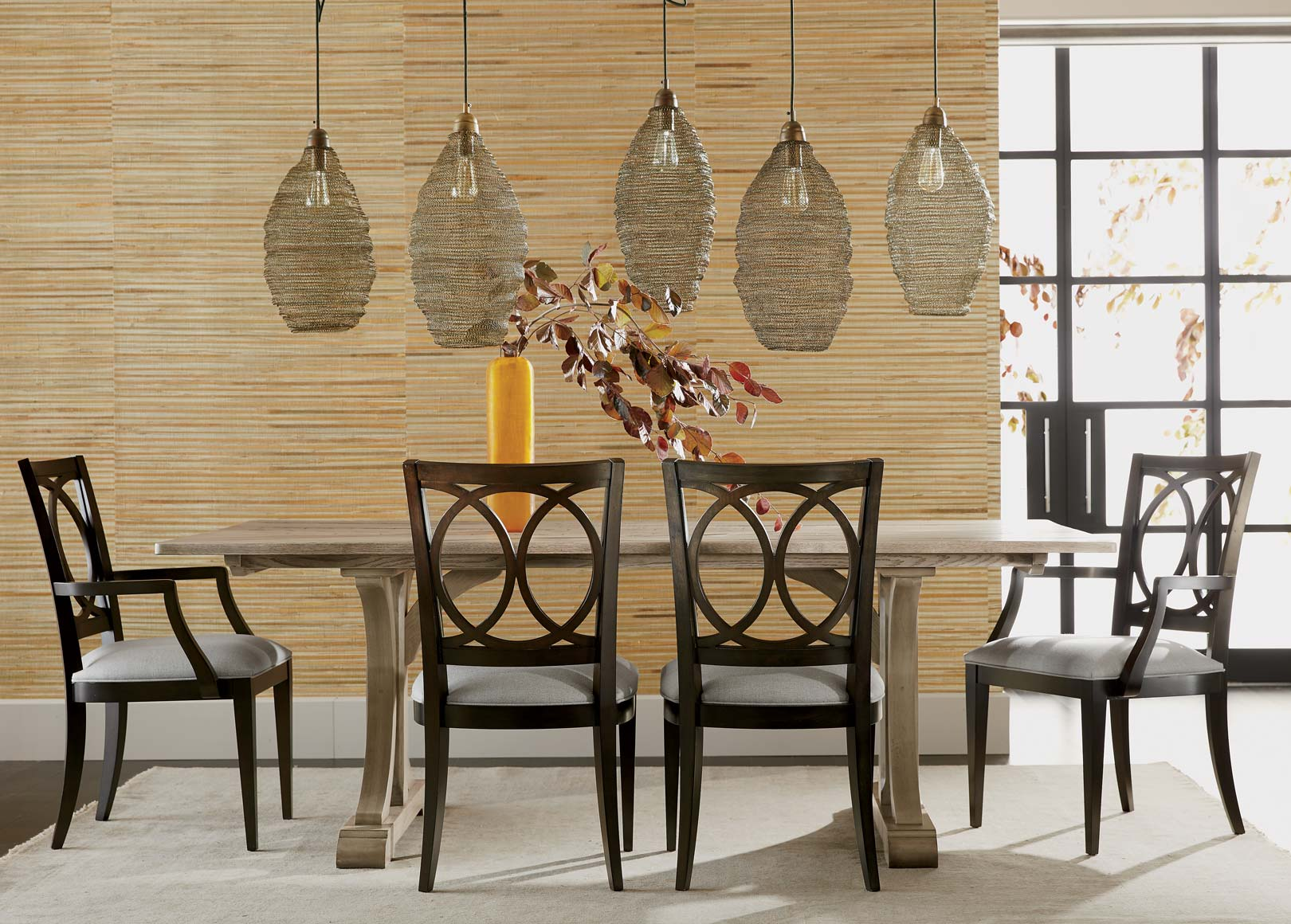 Eclectic Dining Room with Rustic Notes Main Image