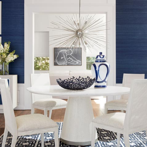 High Contrast Dining Room Tile