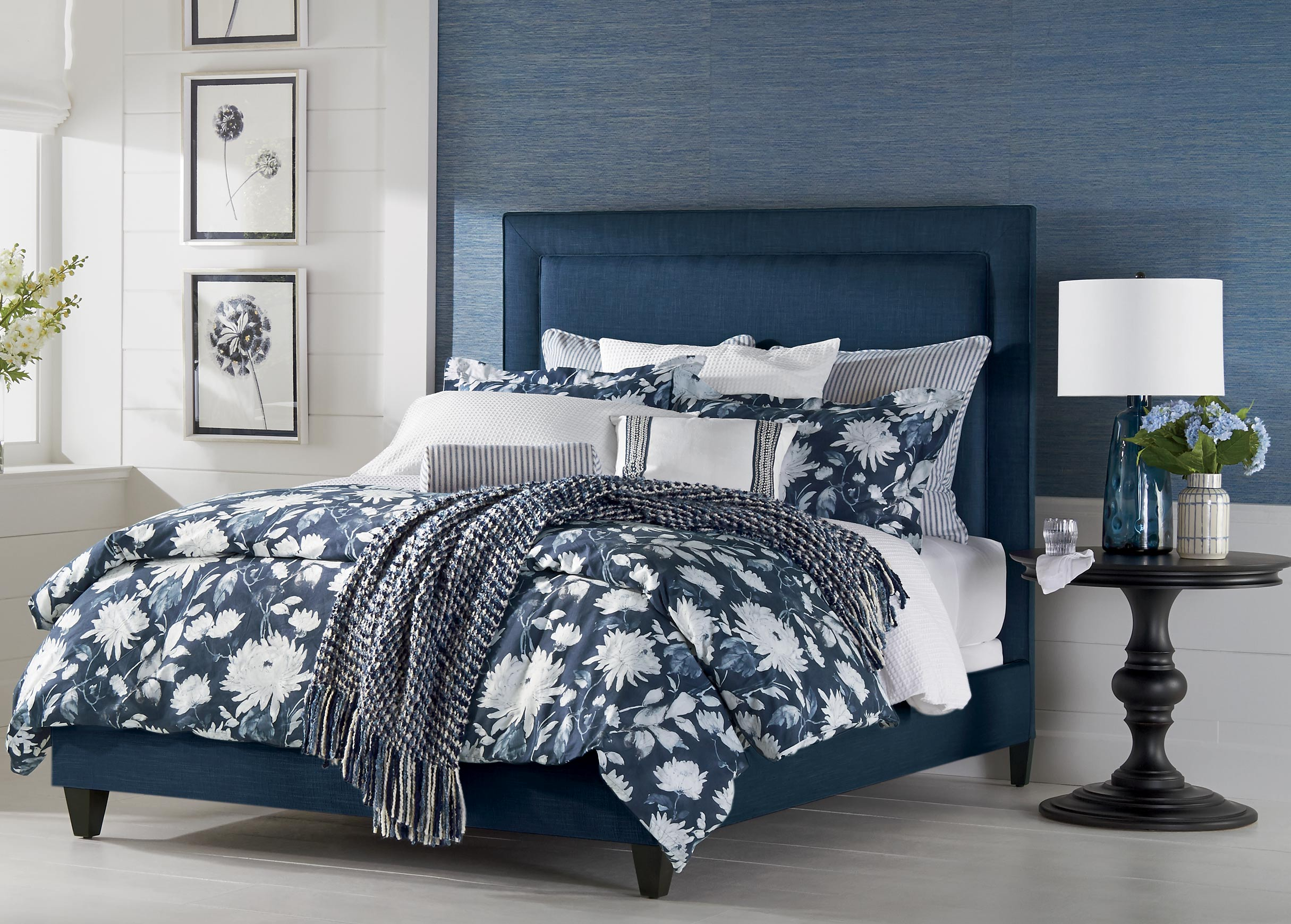 a beautiful point of blue bedroom  ethan allen