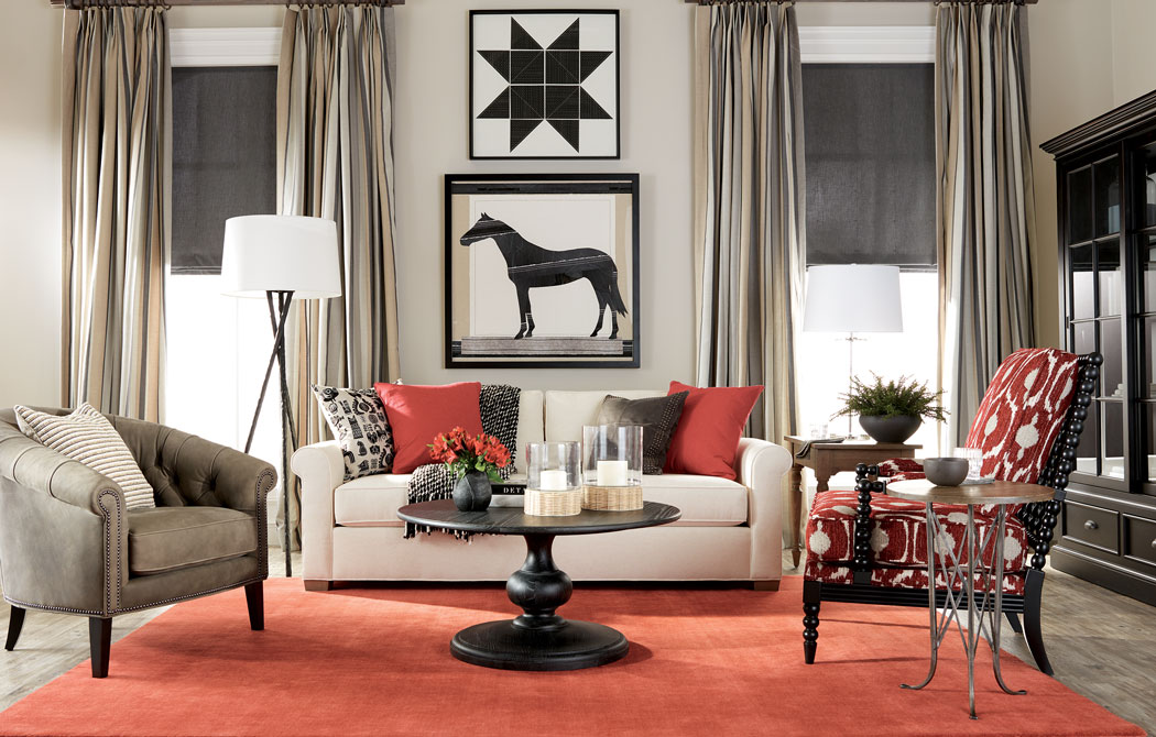 Farmhouse Goes Formal Living Room Main Image